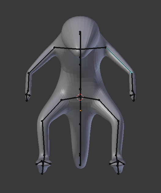 Armature extraction for skin modifier